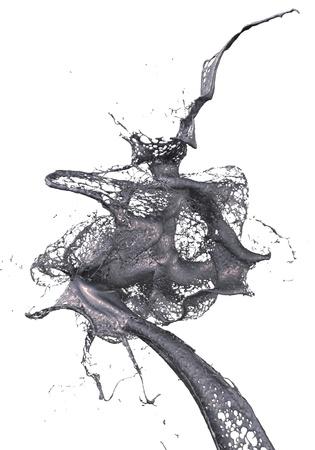 splash of oil 写真素材