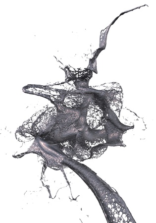 splash of oil Standard-Bild