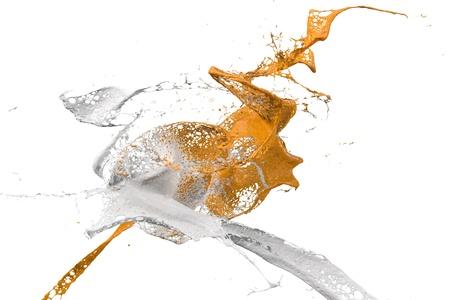 two colliding splashes