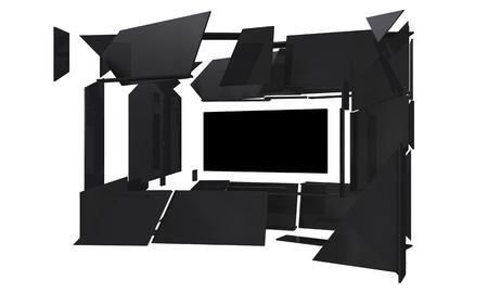 modern designed frame in black
