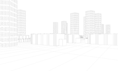 illustration of downtown architecture