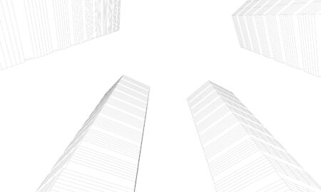 illustration of skyscapers from below Stock Illustration - 10216121