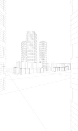 illustration of big buildings Stock Illustration - 10216096