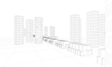 illustration of modern city buildings Stock Illustration - 10216119