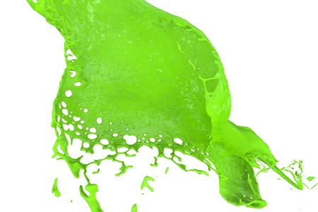 high quality rendering of fast splashing color in neon green