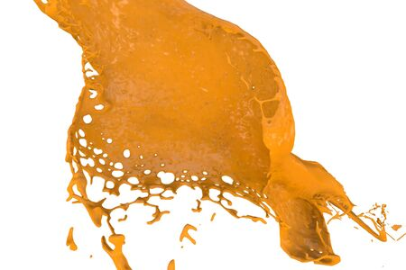 high quality rendering of fast splashing color in orange