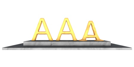 high quality rendering of melting triple a rating Stock Photo