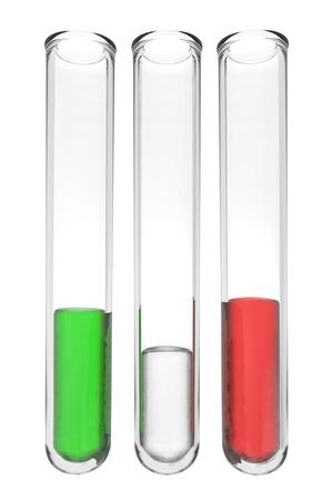iran: testtubes with liquids in italian colors