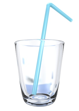 deficiency: empty glass with blue straw