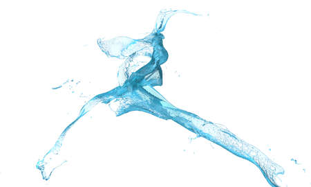 light blue liquids splashing on white background Stock Photo - 12765713