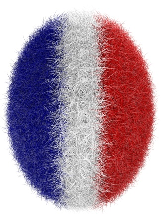 isolated abstract furry easter egg  in french national colors photo