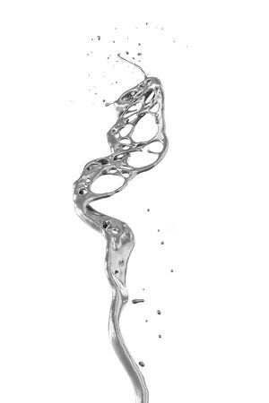 silver splash isolated on white