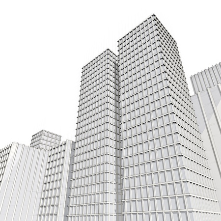 architecture drawing of skyscraper in big city Stock Photo - 18148270