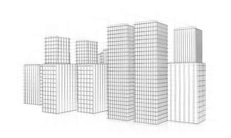 sketch of city skyline Stock Photo - 18258447