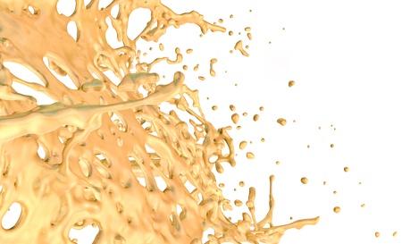 gold splash background, isolated on white background
