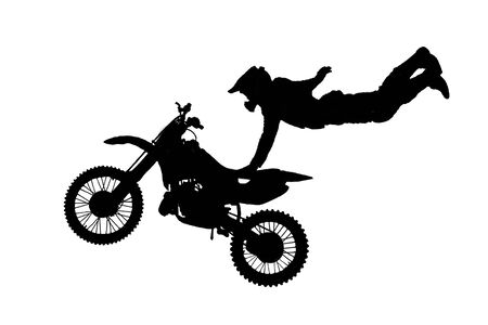 supercross: isolated motorbike jump on the white background