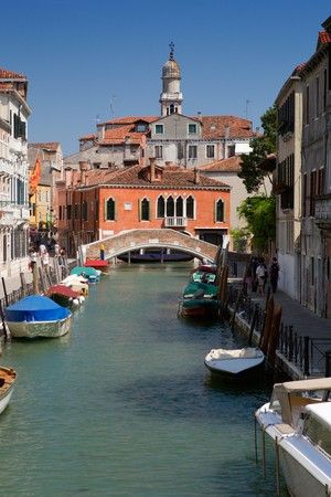 Canale in Venice in summer with blue sky Stock Photo - 4298514