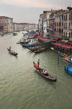 Grand Channel in Venice view from bridge Ponte di Rialto