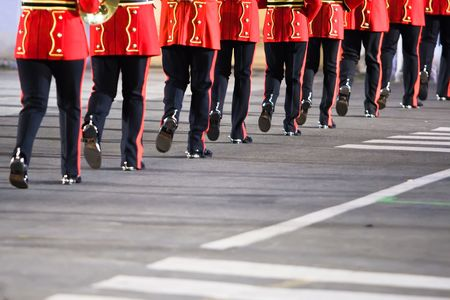 Legs of a British military band  photo