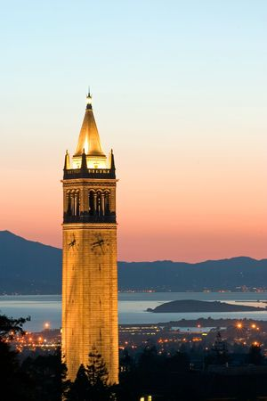 Berkeley University Sather Tower Zoom, California