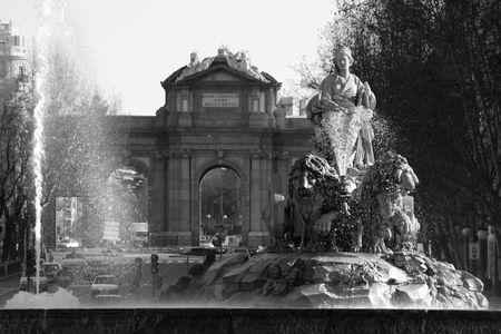 cibeles: Cibeles and Alcala , Madrid, Spain Stock Photo