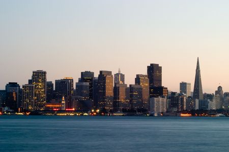 San Francisco Skyline, California Stockfoto