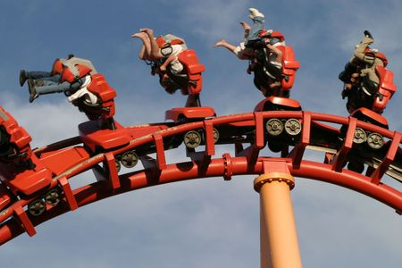 Theme Park Roller Coaster Close up