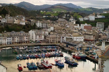 Fisherman Village, Galicia, Spain Stock Photo