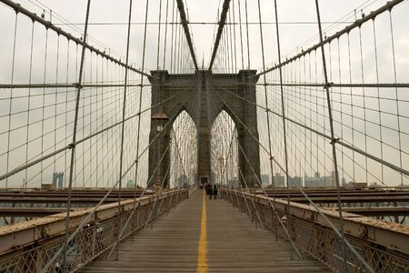 Brooklyn Bridge, Manhatan, New York Stock Photo