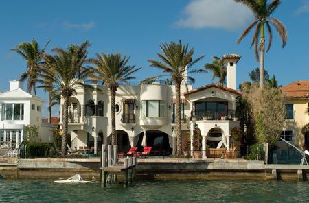 More expensive houses from Miami in my portfolio Stockfoto