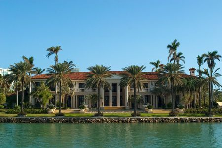bay: More expensive houses from Miami in my portfolio Stock Photo