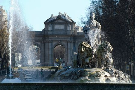 plaza de la cibeles: Cibeles y Alcal�, Madrid, Espa�a