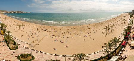 Famous beach in Valencia Spain