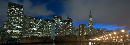 Embarcadero Panorama, Financial district, San Francisco, California Stock Photo - 934642