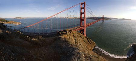 pano: Golden Gate and Beach Pano, San Francisco, California