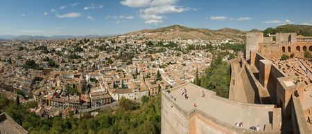view of Granada from the Alhambra Editorial