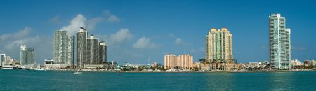panorama of departments in Miami Stock Photo