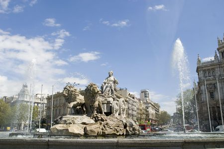 Cibeles Fountain at 30 degrees angle Stock Photo