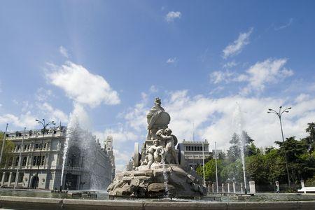 plaza de la cibeles: Fuente de Cibeles en �ngulo de 180 grados