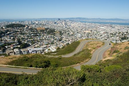 dangerous road and much of the San Francisco Bay Stock Photo - 959893