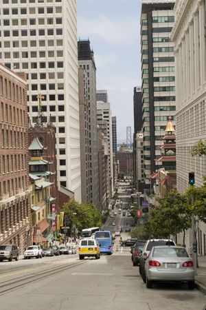 California street and Buildings in downtown San Francisco Stock Photo - 991484