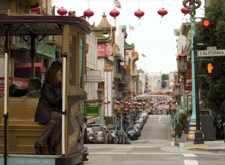 San Francisco Chinatown and cable car