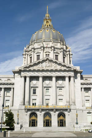 that: The City Hall of San Francisco California, opened in 1915, in its open space area in the citys Civic Center, is a Beaux-Arts monument to the brief City Beautiful movement that epitomized the high-minded American Renaissance of the period 1880-1917. The