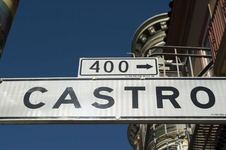 lesbianism: Street sign Castro