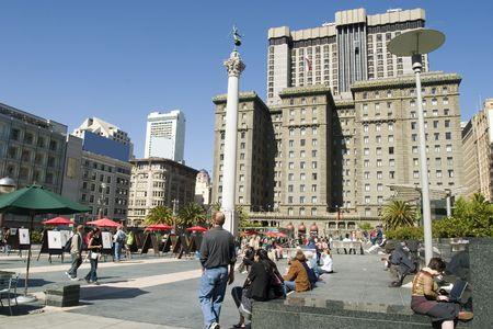 Hotel in San Francisco Union Square Stockfoto - 1118983