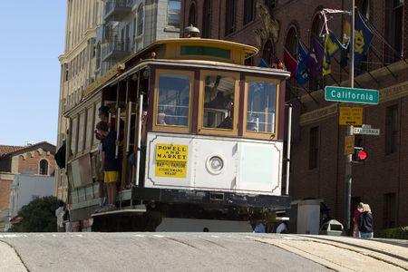 Beroemde Cable Car in San Francisco, Californië Stockfoto - 1119001