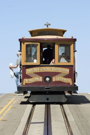 cables: Famous Cable Car in San Francisco California Editorial