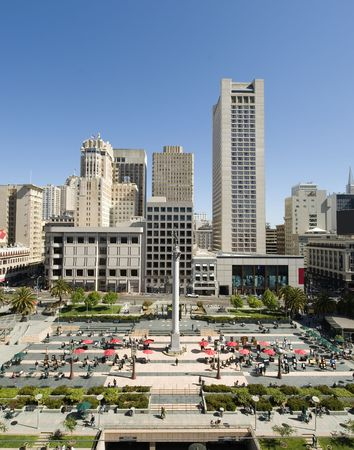 aereal: Union Square San Francisco a shop-aholic dream Stock Photo