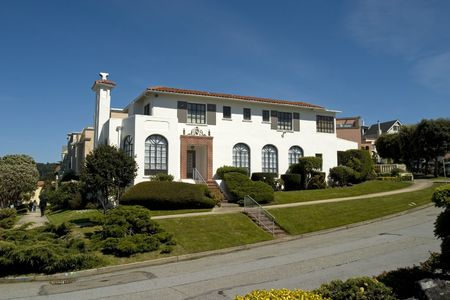 House on a hill in San Francisco California Stock Photo