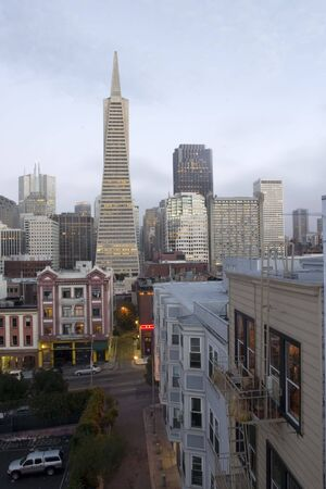 San Francisco Skyline with clouds Stock Photo